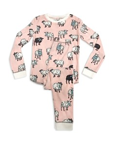 PJ Salvage - Girls' Sheep-Print Pajama Shirt & Pants Set - Little Kid, Big Kid